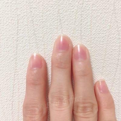 エテュセのジェルカラーコート #PK1(桜貝)1度塗り