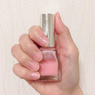 エテュセのジェルカラーコート #PK1(桜貝)2度塗り